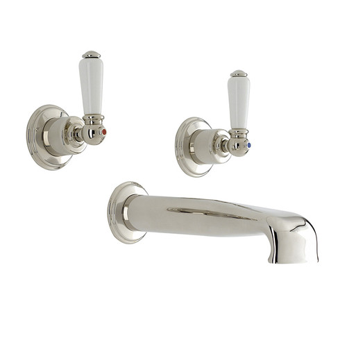 Perrin & Rowe 3580 Three Hole Mixer Set Tap, Lever Handles