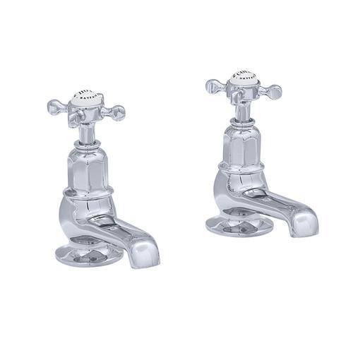 Perrin & Rowe 3456 Pair Bath Tap, Crosshead Handles