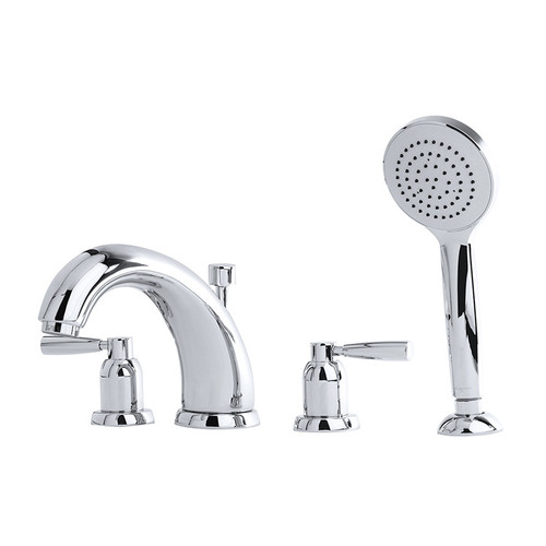 Perrin & Rowe 3845 Four Hole Shower Mixer Tap, Lever Handles