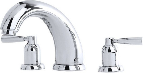 "Perrin & Rowe 3855 7"" Three Hole Bath Mixer Tap, Lever Handles"