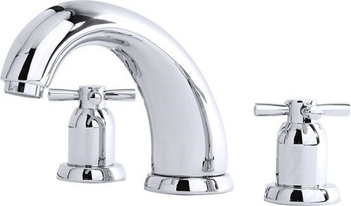 "Perrin & Rowe 3856 7"" Three Hole Bath Mixer Tap, Crosshead Handles"