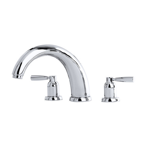 "Perrin & Rowe 3858 10"" Three Hole Bath Mixer Tap, Lever Handles"