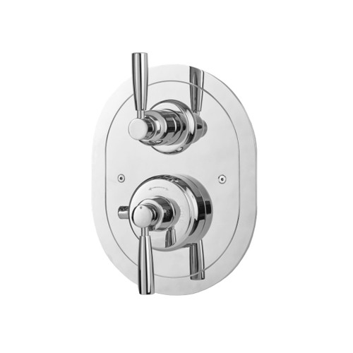 Perrin & Rowe 5855 Concealed Thermostatic Shower Valve, Lever Handles