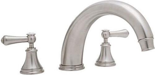 "Perrin & Rowe 3658 10"" Three Hole Bath Mixer Tap, Lever Handles"