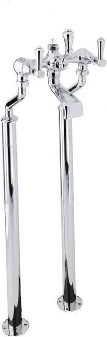 Perrin & Rowe 3012 Floor Mounted Shower Mixer Tap, Lever Handles