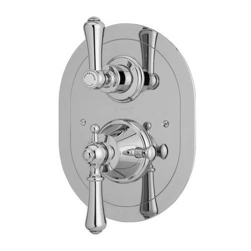 Perrin & Rowe 5756 Concealed Thermostatic Shower Valve, Lever Handles