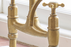 Perrin and Rowe Aged Brass Tap Lifestyle Picture