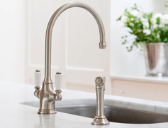 Perrin and Rowe Pewter Tap Lifestyle Picture