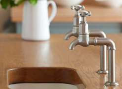 Perrin and Rowe Pewter Taps Lifestyle Picture