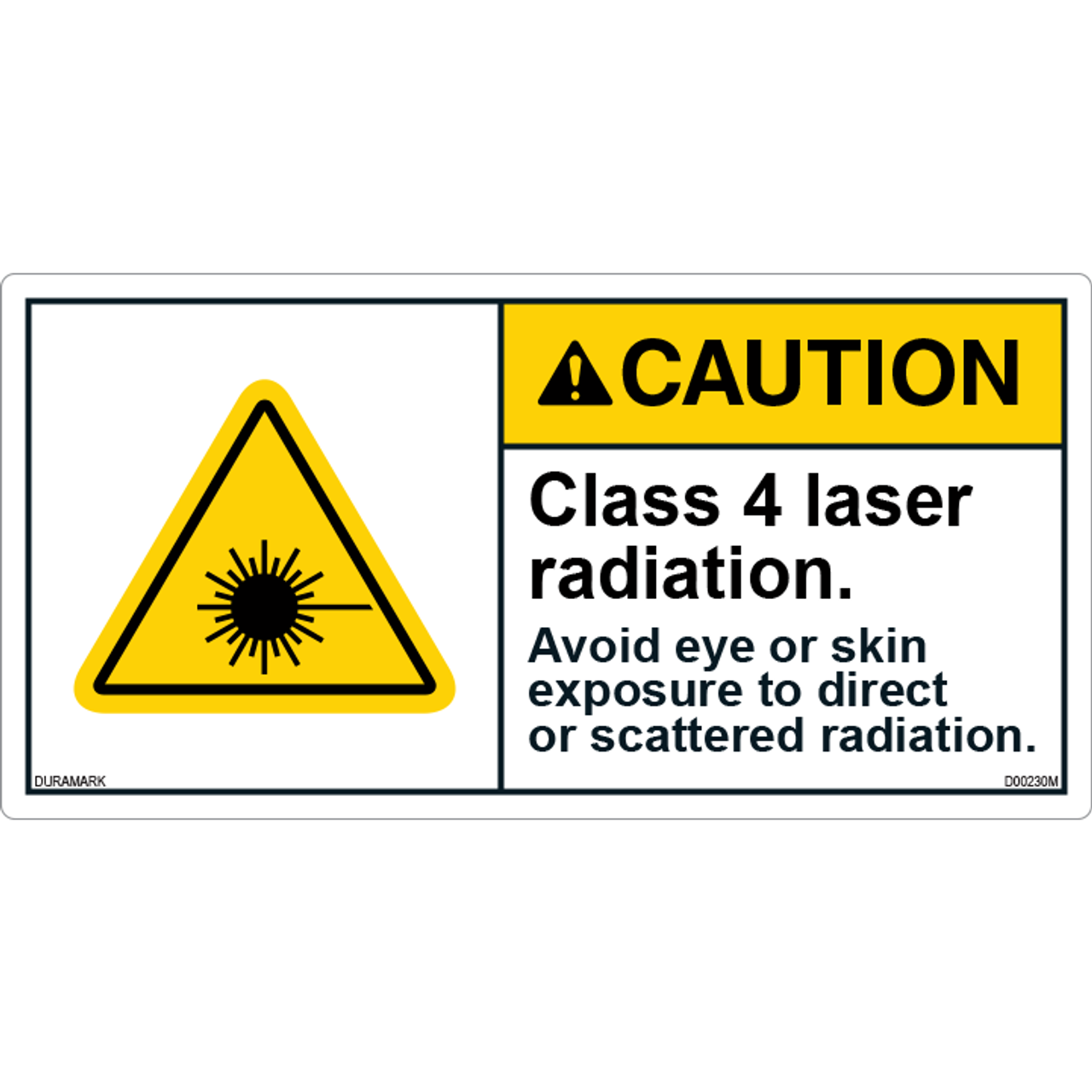 ANSI Safety Label - Caution - Laser Radiation - Class 4