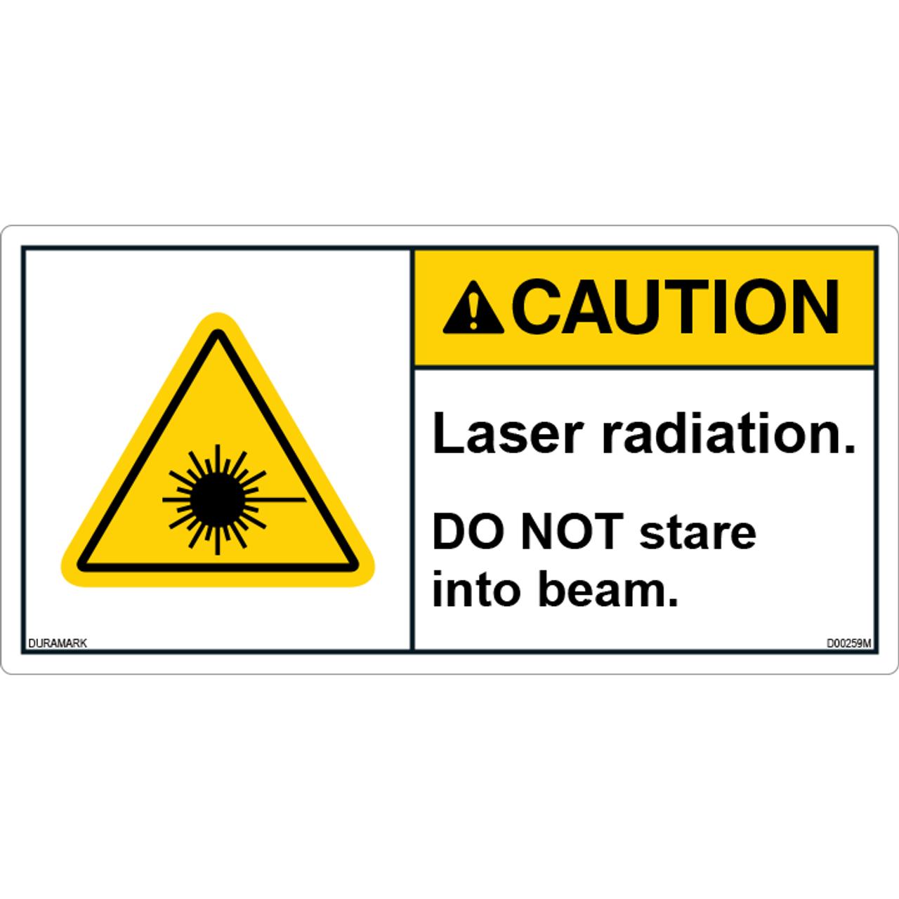 ANSI Safety Label - Caution - Laser Radiation - Do Not Stare