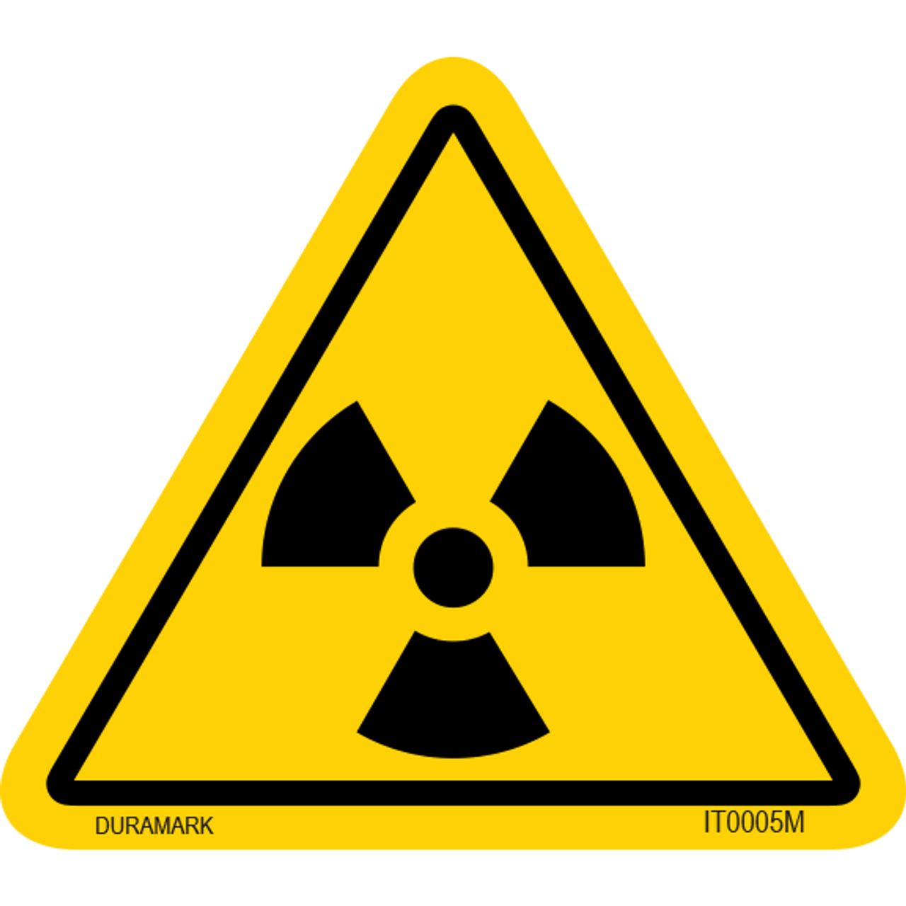 ISO safety label - Triangle - Radiation