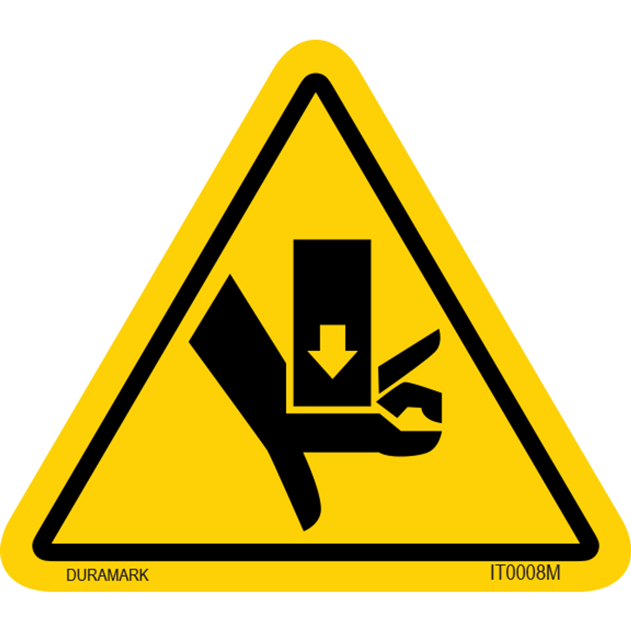 ISO safety label - Triangle - Hand Crush