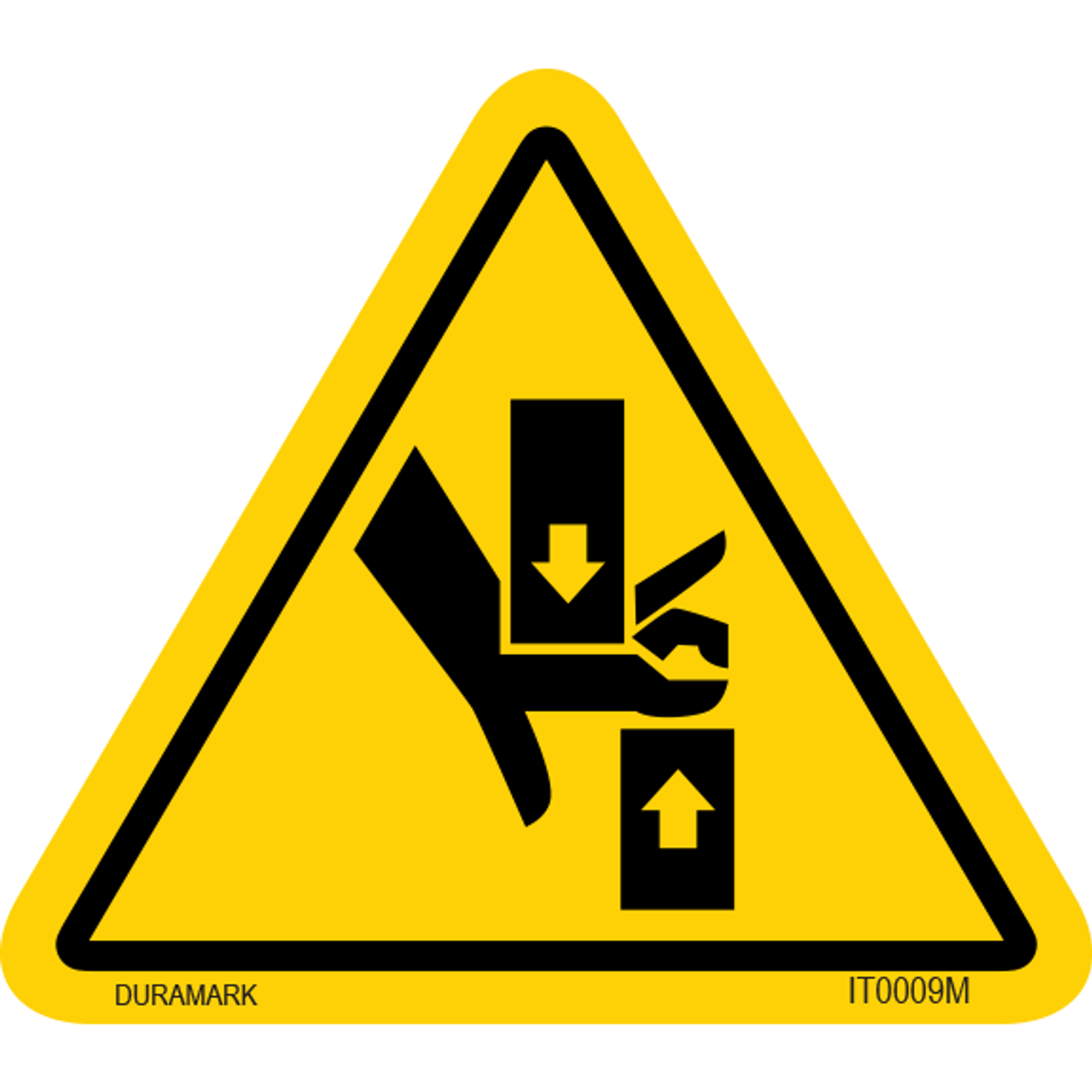 ISO safety label - Triangle - Pinch Point/Hand Crush
