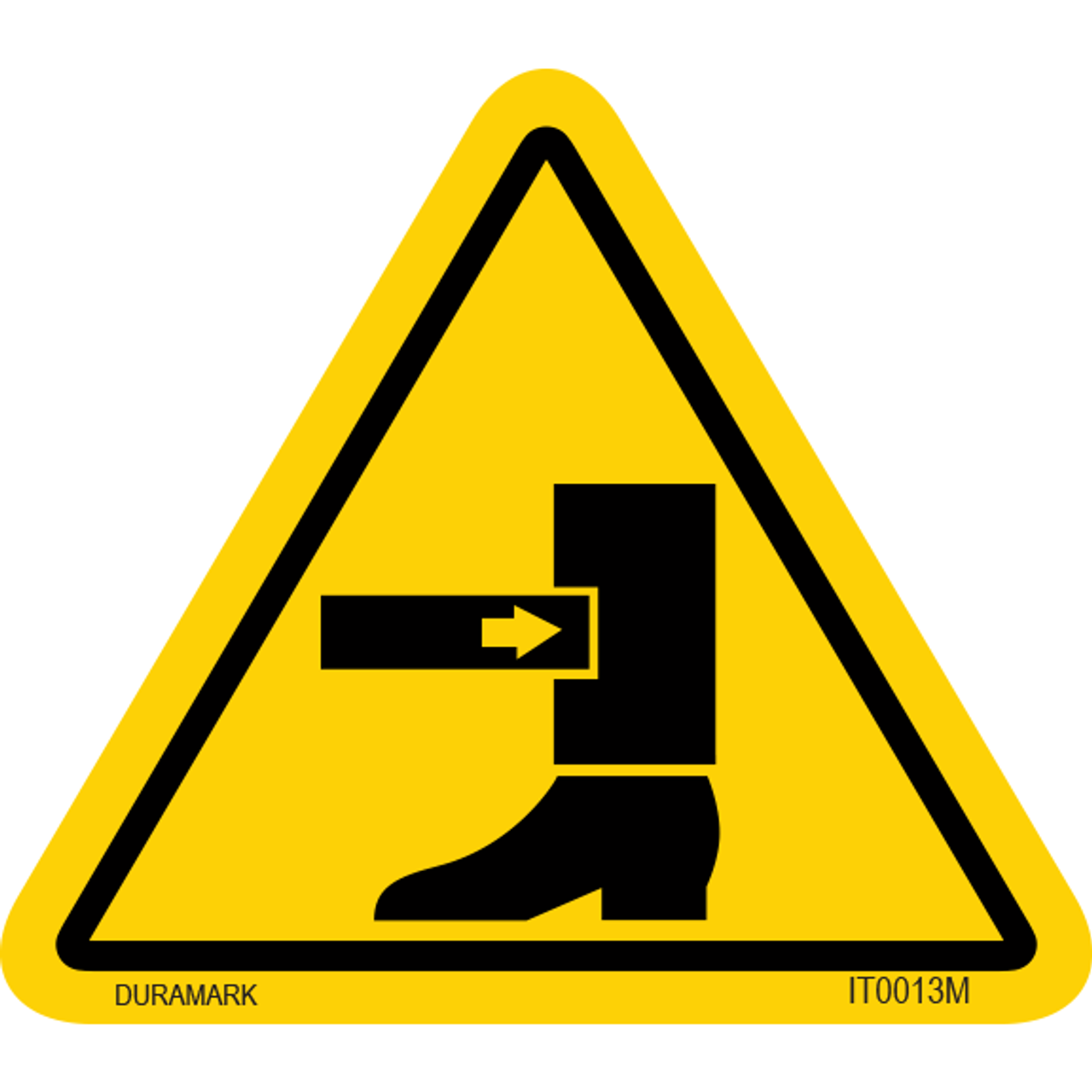 ISO safety label - Triangle - Leg Crush