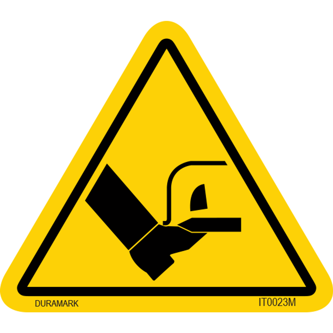 ISO safety label - Triangle - Foot Cut - Slice