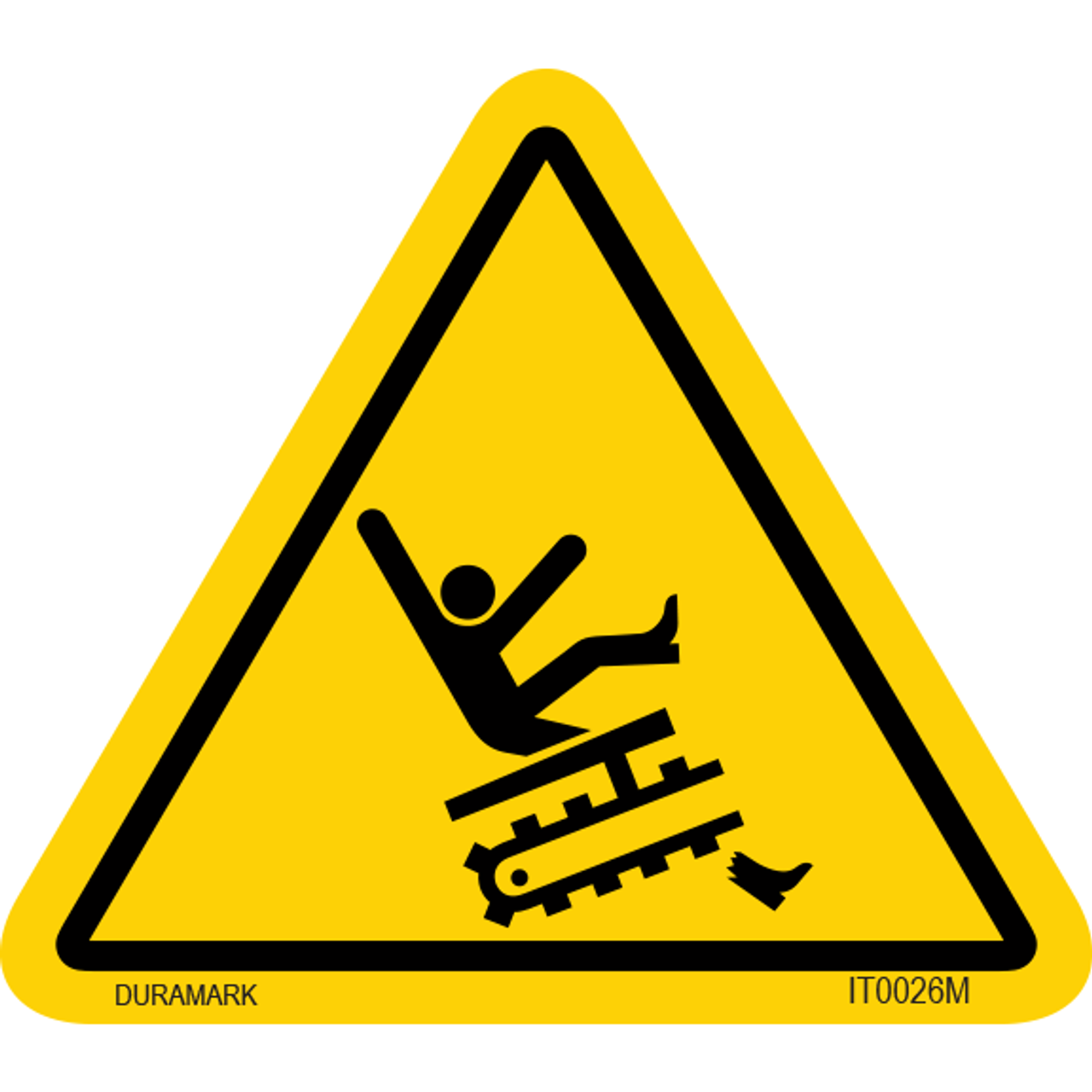 ISO safety label - Triangle - Entanglement - Leg