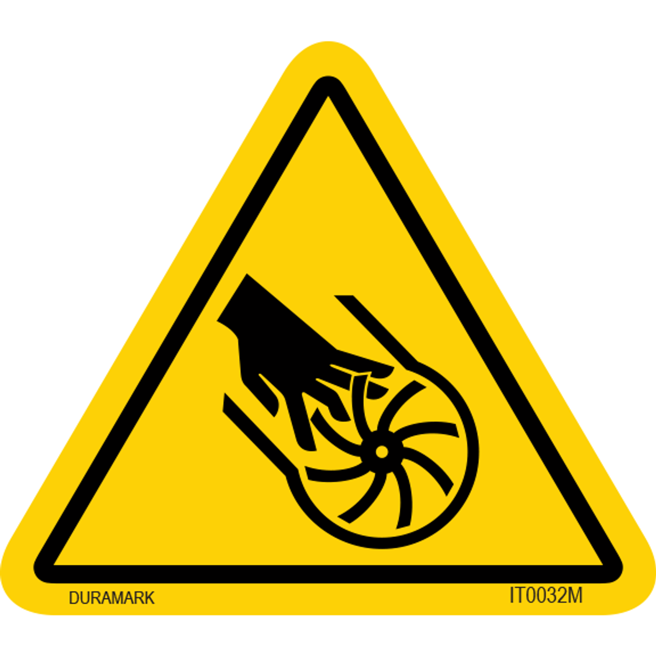 ISO safety label - Triangle - Entanglement - Rotary