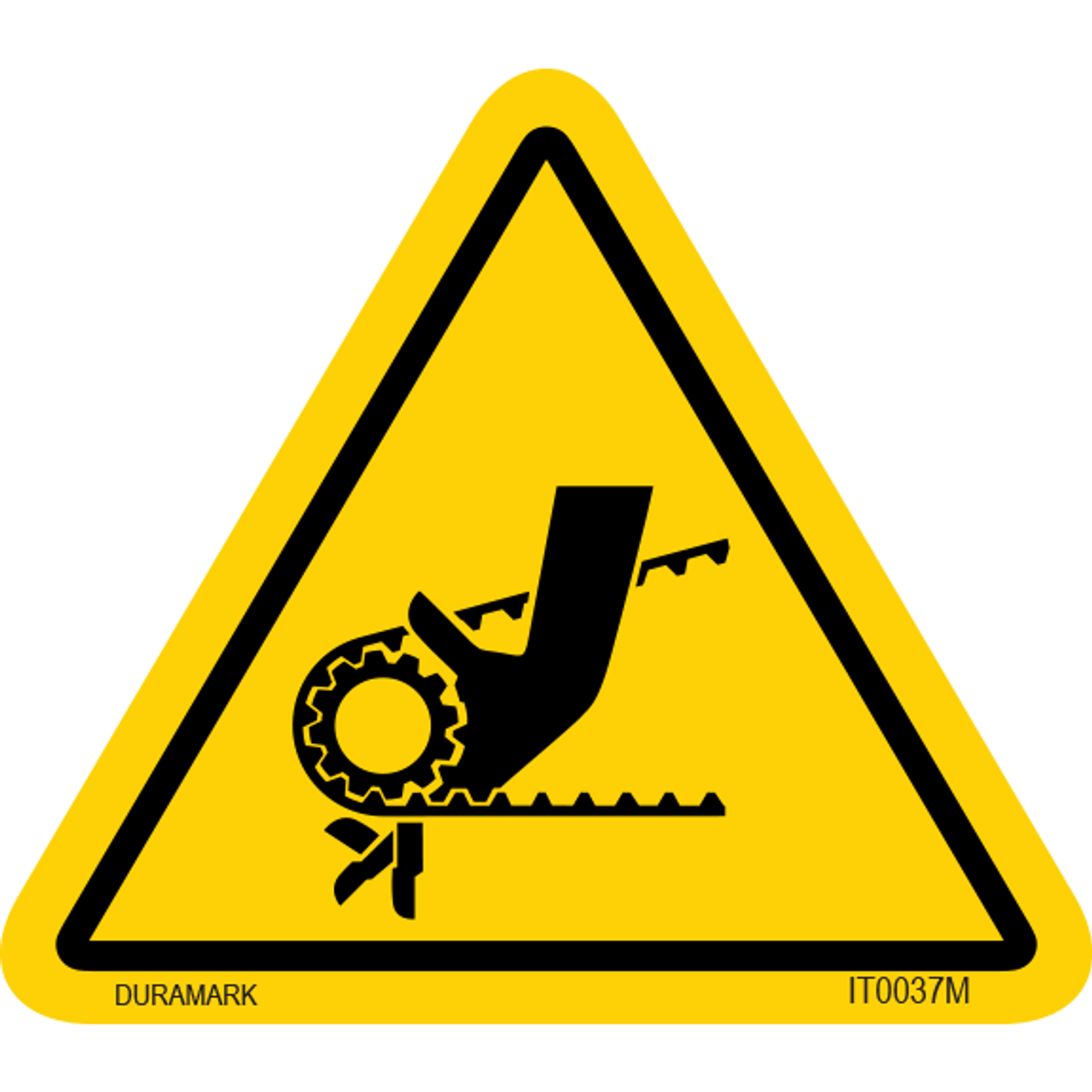ISO safety label - Triangle - Entanglement - Belt