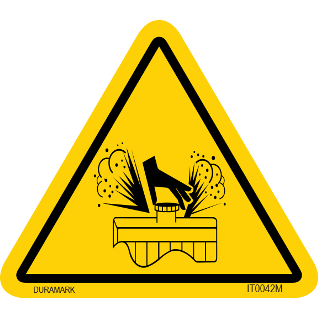 ISO safety label - Triangle - Pressurized/Explosion