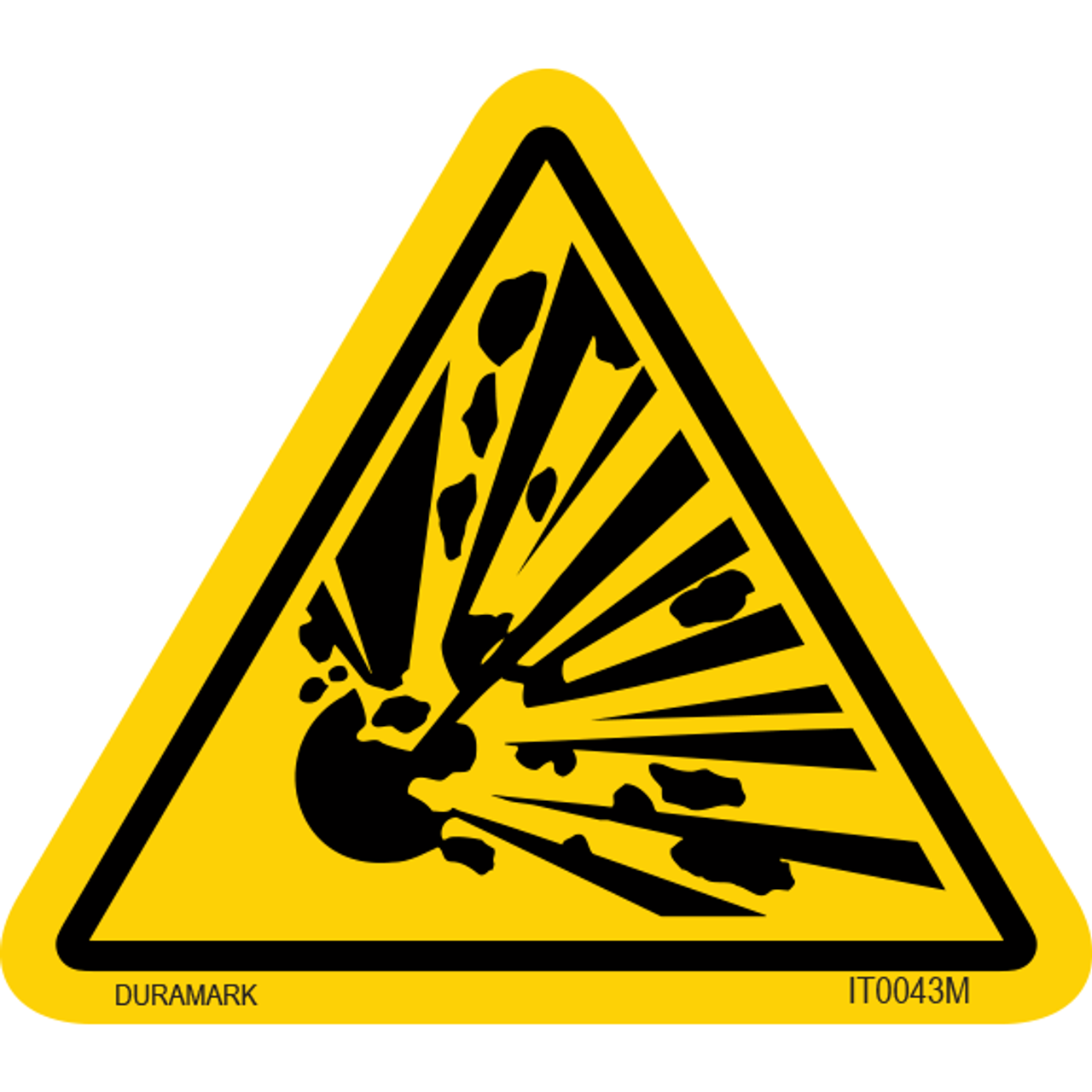 ISO safety label - Triangle - Explosion