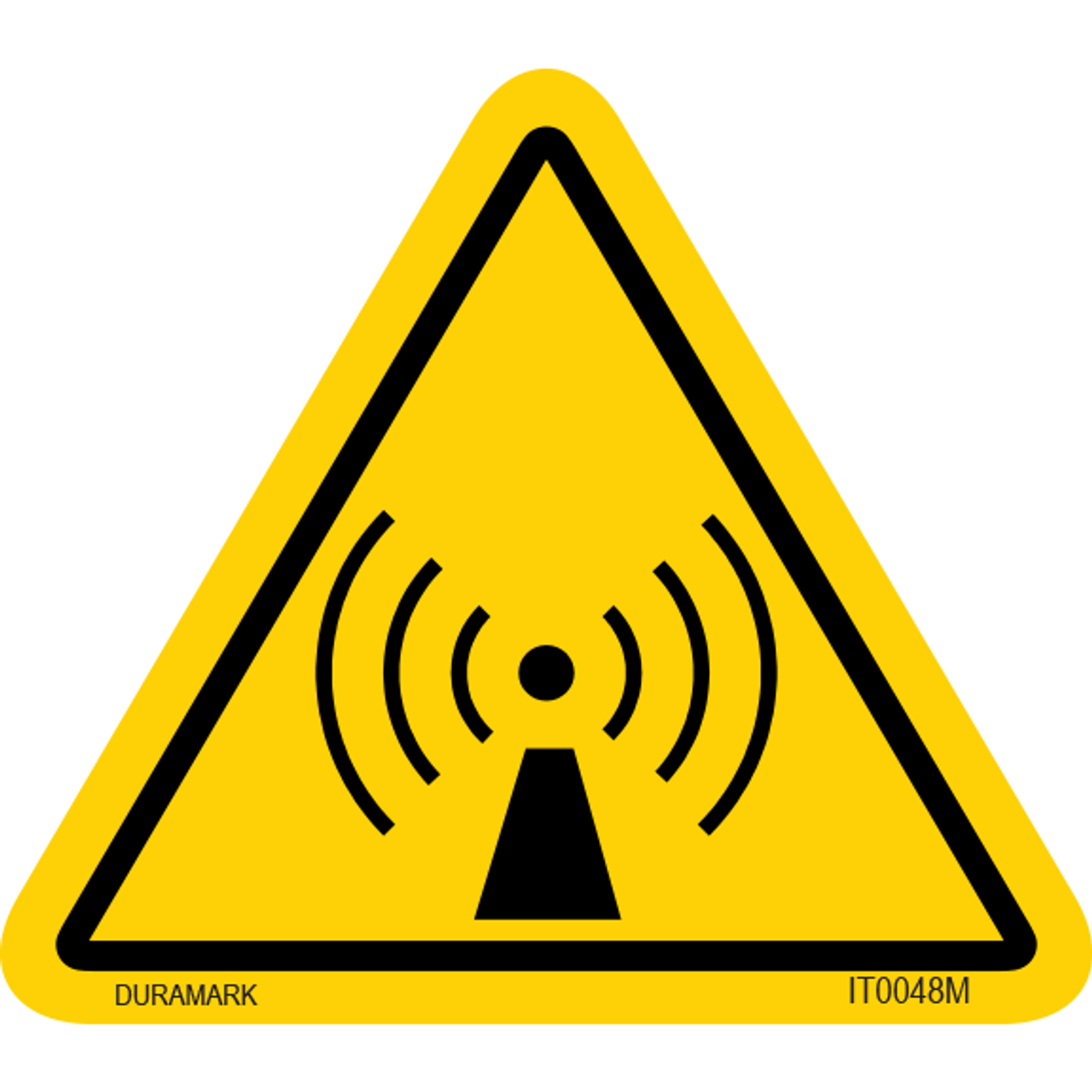 ISO safety label - Triangle - Exposure - Radio Frequency