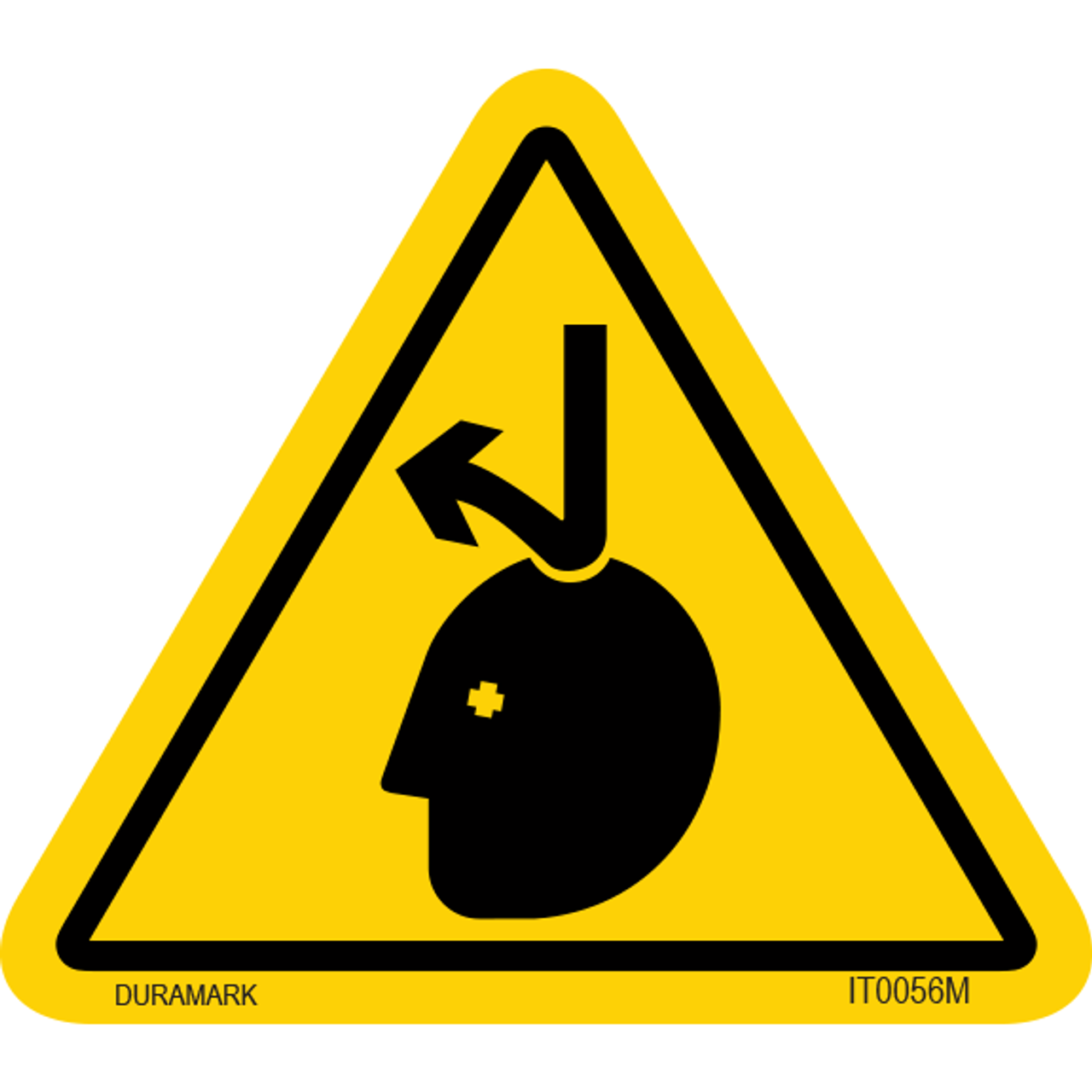 ISO safety label - Triangle - Falling Object - Top of Head