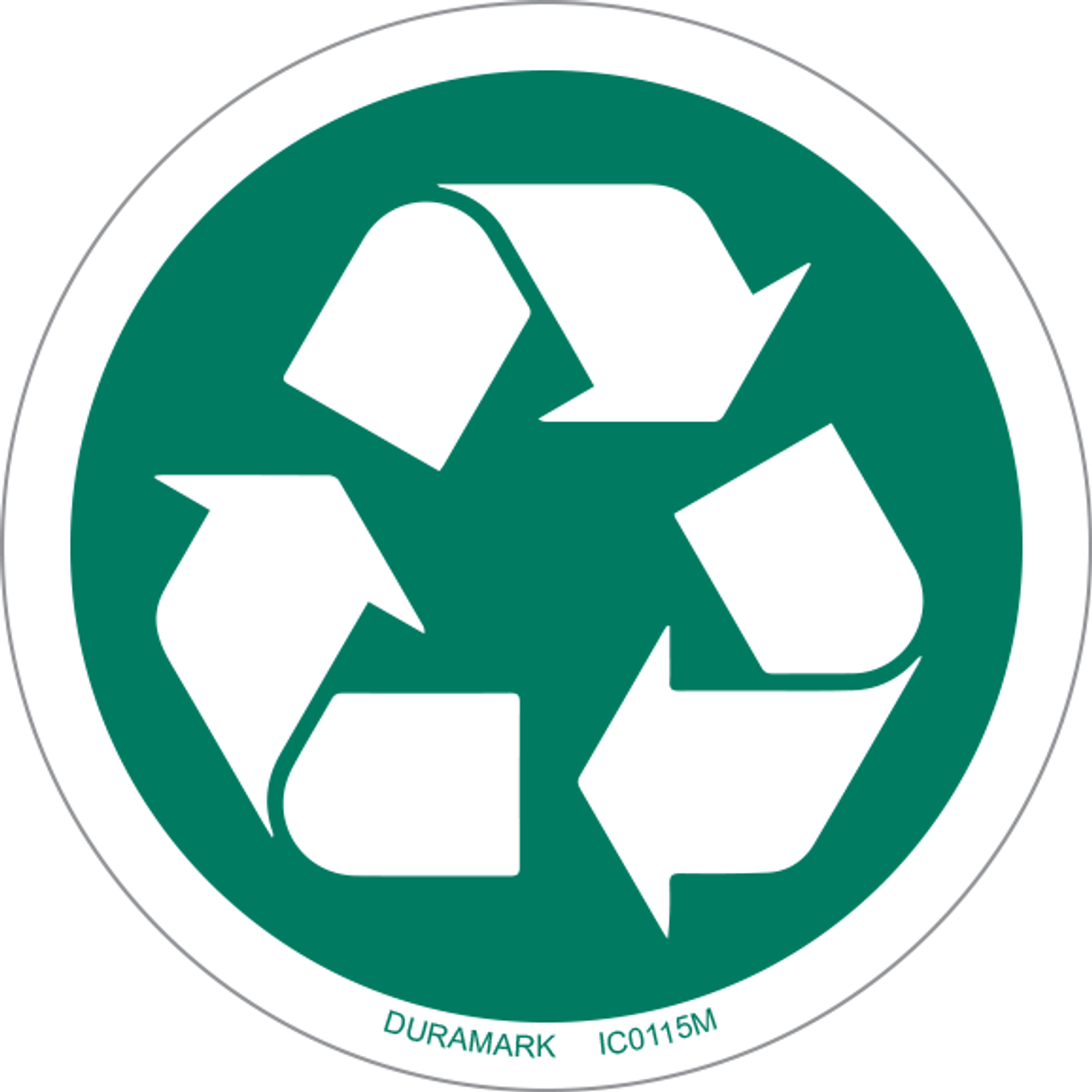 ISO safety label - Circle - Recycle
