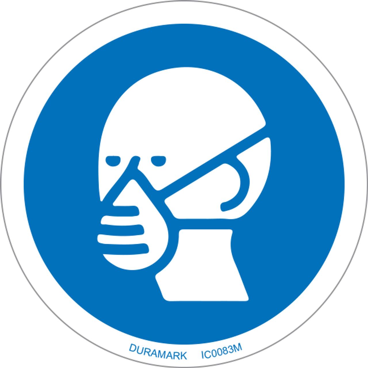 ISO safety label - Circle - Mandatory - Wear A Mask