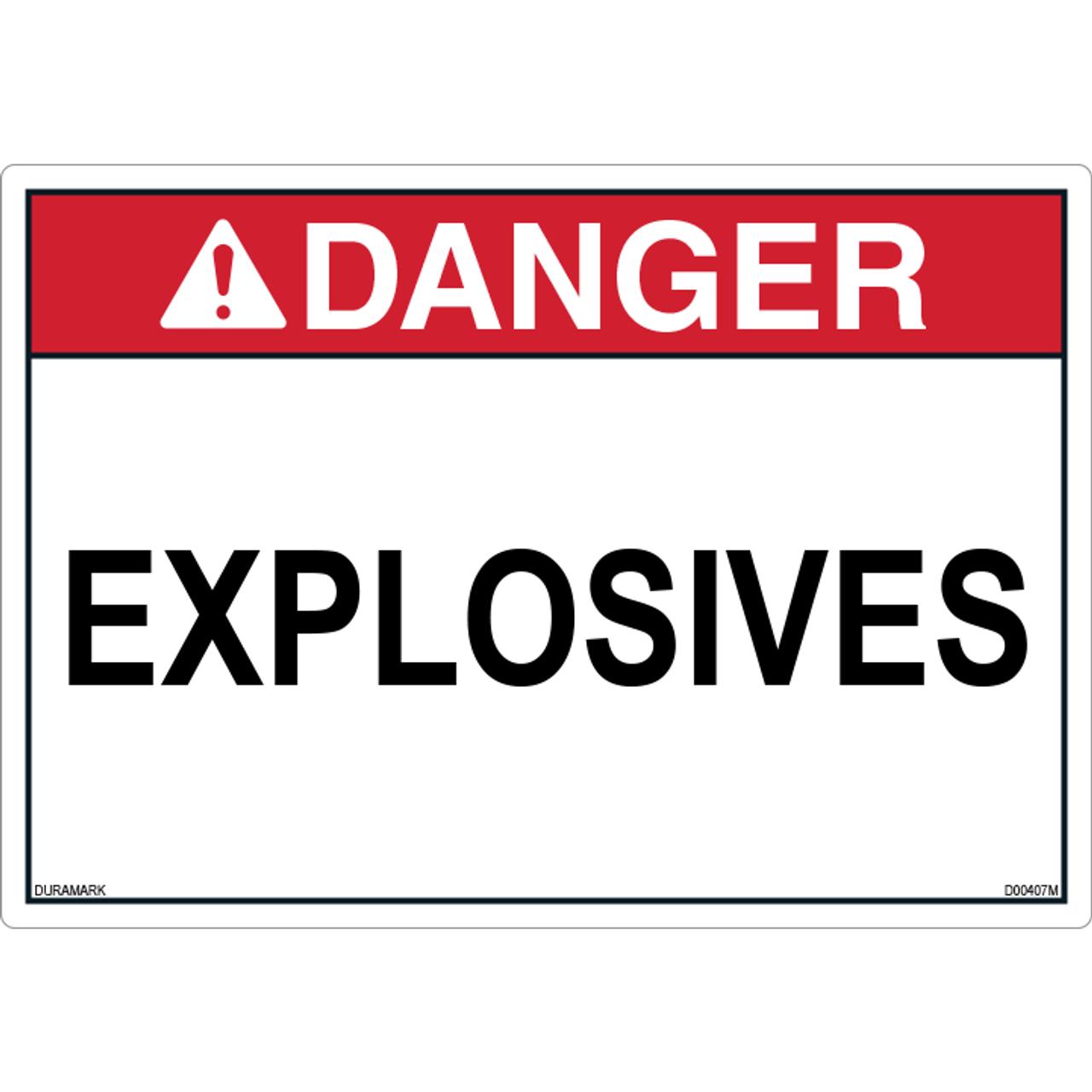 ANSI Safety Label - Danger - Explosives