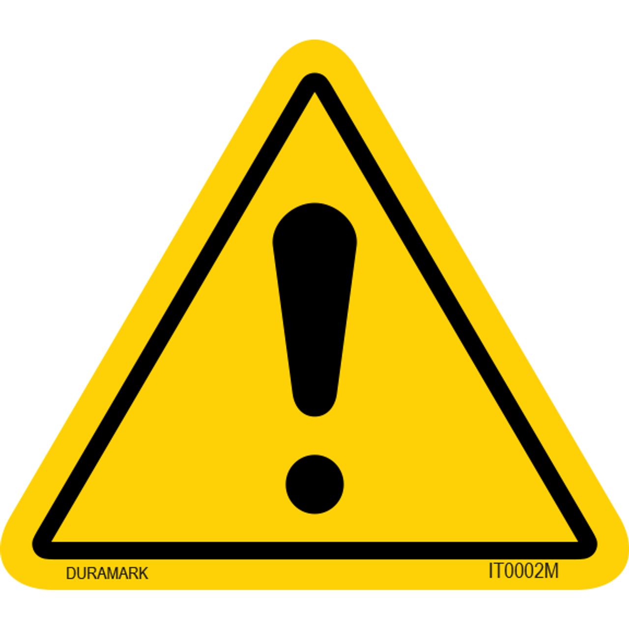 ISO safety label - Triangle - Warning