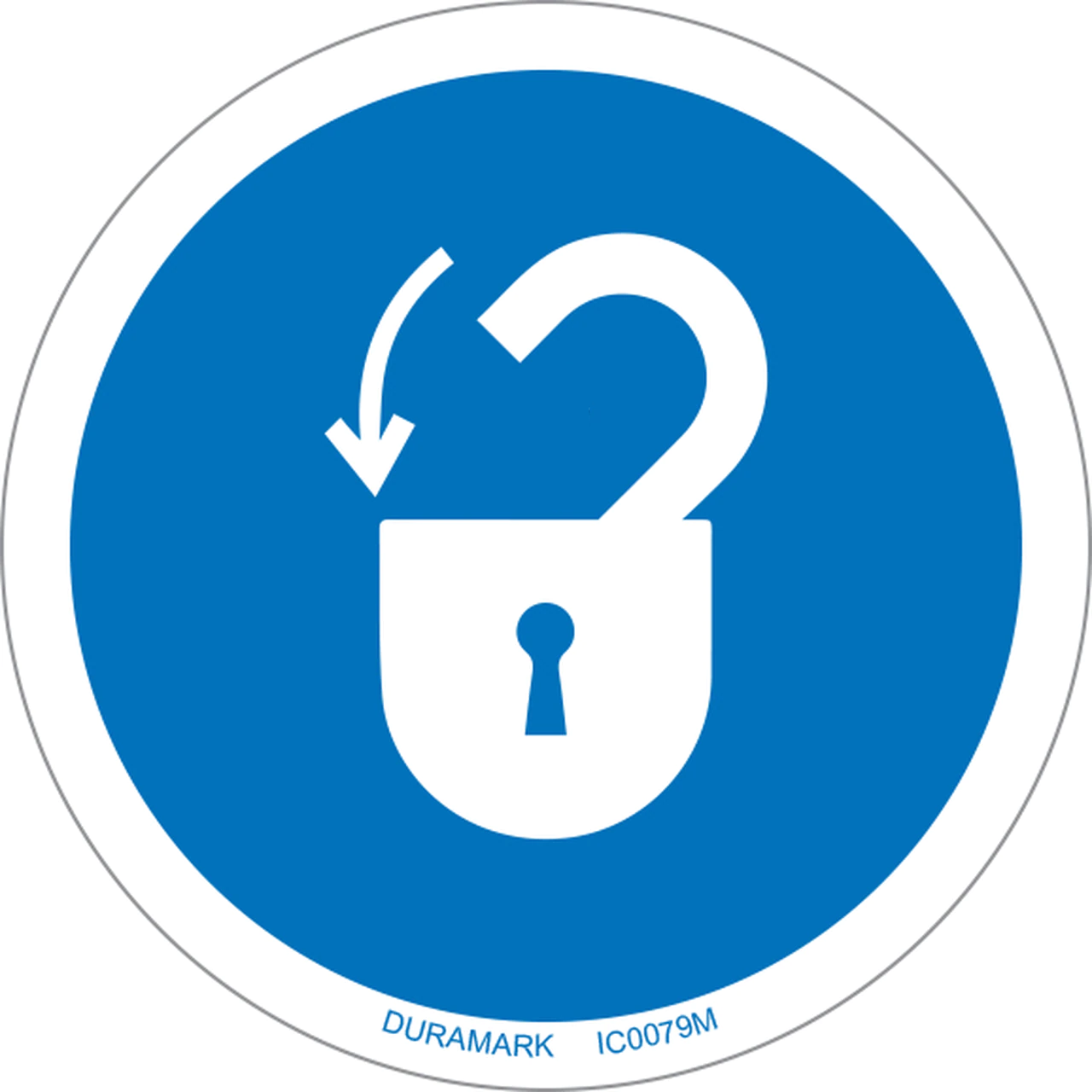 ISO Circle - Mandatory - Lock Out Power