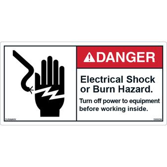 Danger - Shock/Burn Hazard