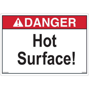 ANSI Safety Label - Danger - Hot Surface