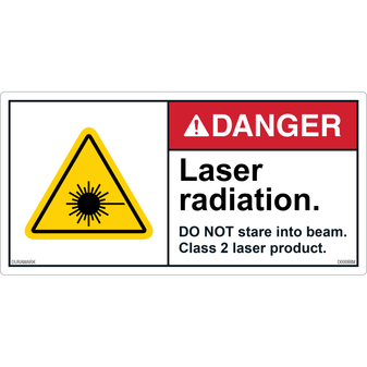 ANSI Safety Label - Danger - Laser Radiation - Do Not Stare