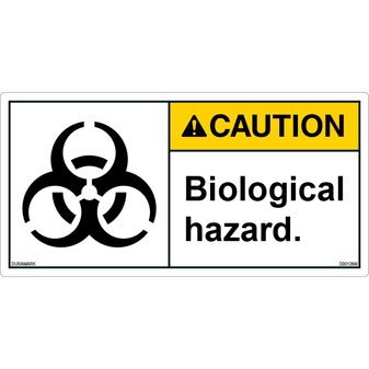 ANSI Safety Label - Caution - Biological Hazard