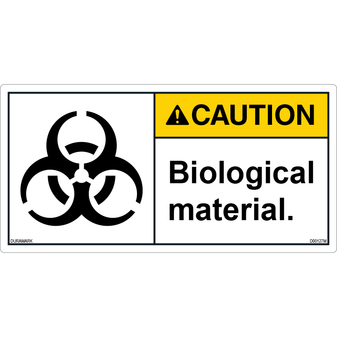 ANSI Safety Label - Caution - Biological Material