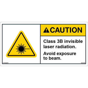 ANSI Safety Label - Caution - Invisible Laser - Class 3B