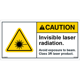 ANSI Safety Label - Caution - Invisible Laser/Avoid Direct Eye - Class 3R