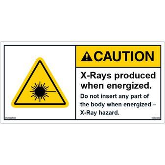 ANSI Safety Label - Caution - X-Ray Hazard