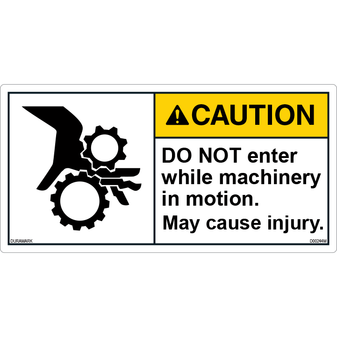 ANSI Safety Label - Caution - Do Not Enter