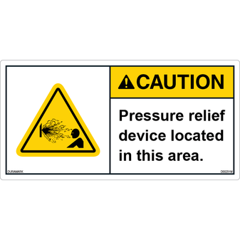 ANSI Safety Label - Caution - Pressure Relief Device