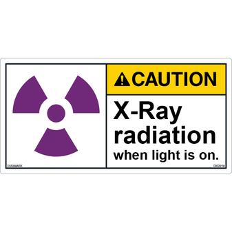 ANSI Safety Label - Caution - X-Ray Radiation - Light On