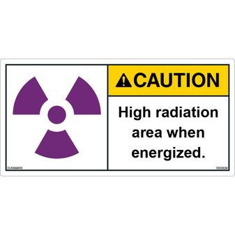 ANSI Safety Label - Caution - X-Ray Radiation - High