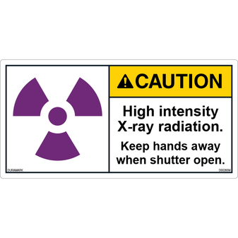 ANSI Safety Label - Caution - X-Ray Radiation - High Intensity