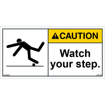 ANSI Safety Label - Caution - Watch Your Step