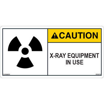 ANSI Safety Label - Caution - X-Ray - In Use