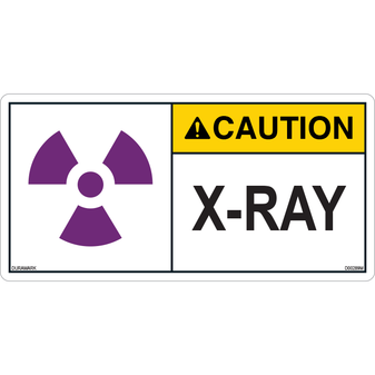 ANSI Safety Label - Caution - X-Ray