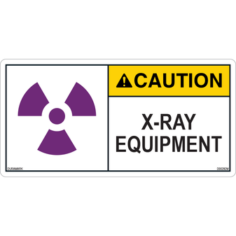 ANSI Safety Label - Caution - X-Ray Equipment
