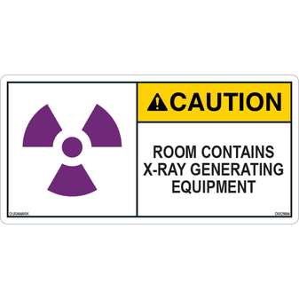 ANSI Safety Label - Caution - X-Ray - Room